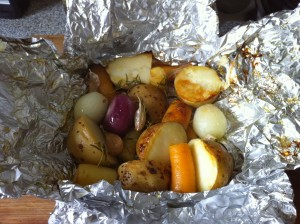 BBQ root vegetables