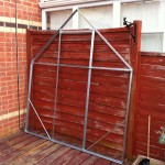 Greenhouse end assembled