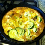 Frittata fully cooked