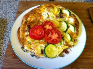 Leek and Courgette Frittata